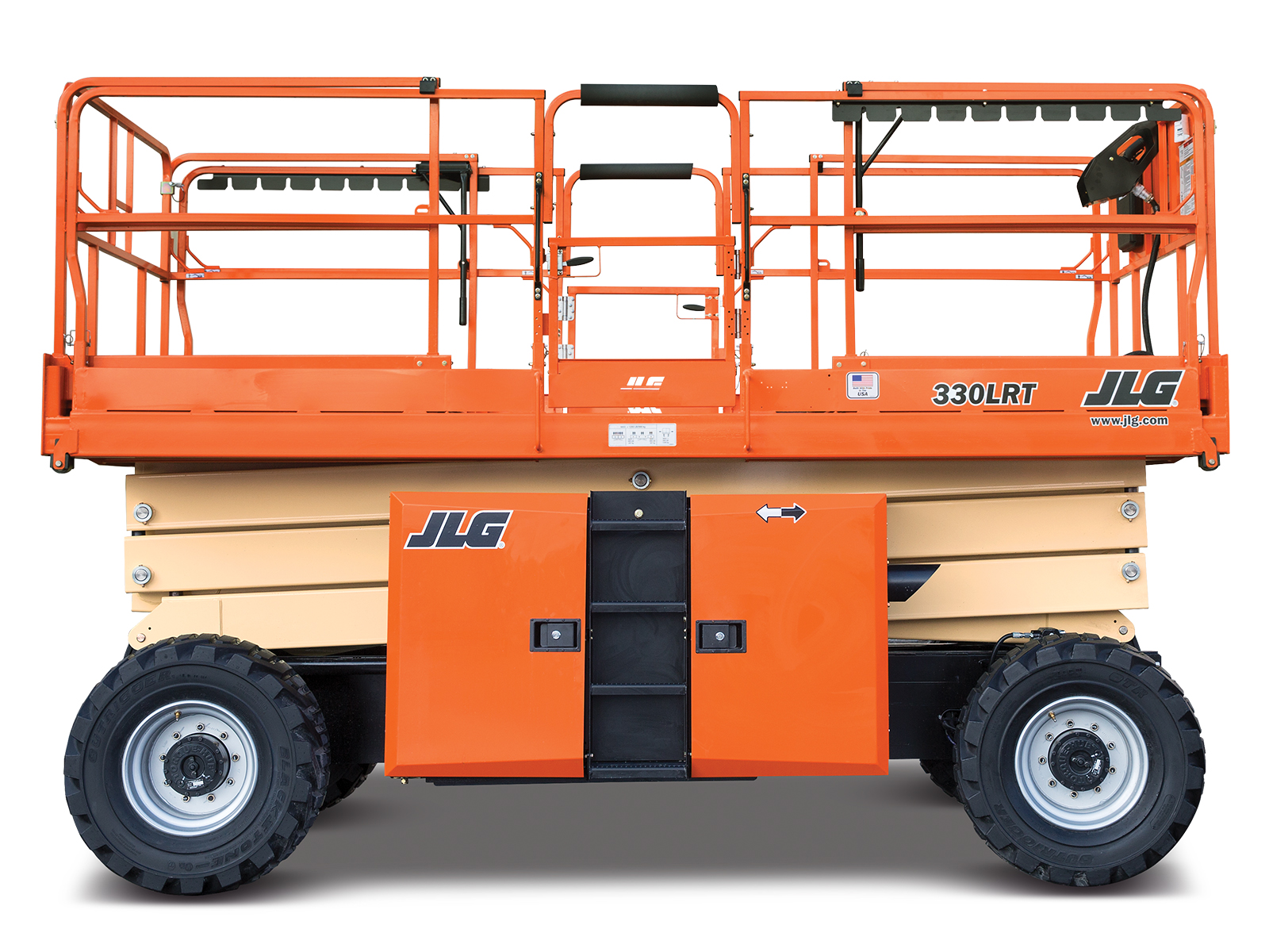 Location Nacelle ciseau diesel compact 12 m - JLG 330LRT - 1