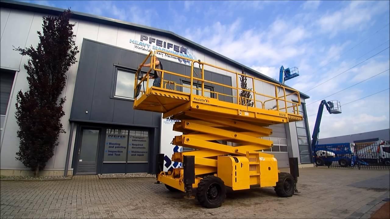 Location Nacelle ciseau diesel 15 m - HAULOTTE H15SX - 3